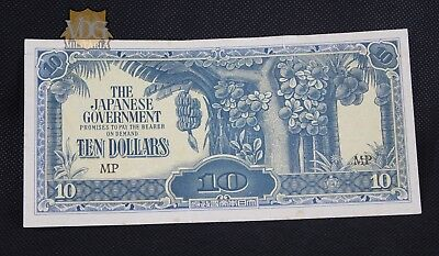 WW2 Paper Currency The Japanese Government Ten Dollars