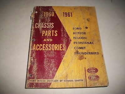 1960-1961 Ford Mercury T-Bird Fairlane Falcon Meteor Comet Chassis Parts Catalog