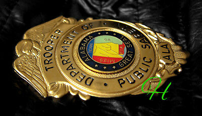 g3/ Historisches police badge  + Trooper Department of Public Safety, Alabama