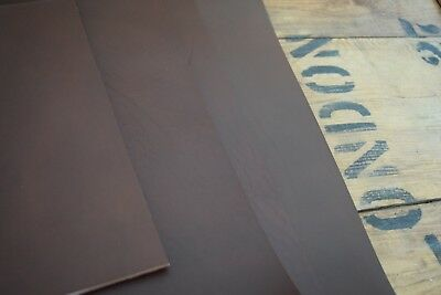 DARK BROWN FULL GRAIN LEATHER COWHIDE PIECES 3.5-4mm thick VARIOUS SIZE, craft