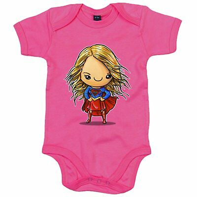 Body bebé Chibi Kawaii Supergirl parodia