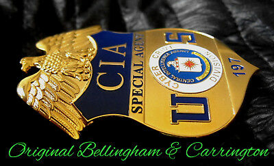 g3/ Historisches police badge + CIA Special Agent, Cyber Crime Division / hallm.