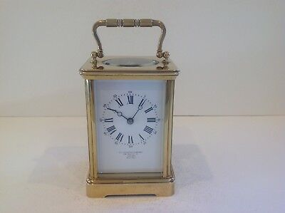 Exceptional French Carriage Clock From Margaine Paris Full Overhaul 2017