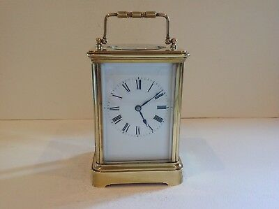 Exceptional French Carriage Clock From Henri Jacot Paris Full Overhaul Apr 2018