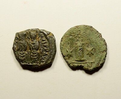 Authentic Ancient Medieval Byzantine Coins - LOT OF 2