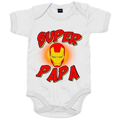 Body bebé Súper Papá Iron Man