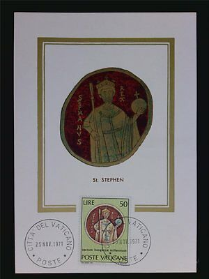 VATICAN MK 1971 HL. STEPHAN UNGARN MAXIMUMKARTE CARTE MAXIMUM CARD MC CM c6289