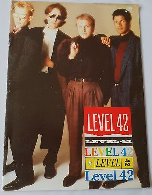 Level 42 (Mark King / Mike Lindup / Boon Gould / Phil Gould) Tour Program 1980's