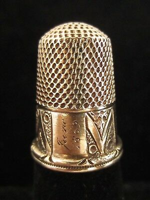 Antique Inscripted 14k Gold Legacy Thimble, Circa 1860s
