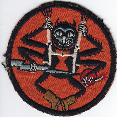 """Original WWII 507th Parachute Infantry Pocket Patch, Emb on Twill,  3 7/8"""" Wide"""
