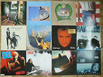 Lp Sammlung 12X Rock Pop Manfred Dire Barclay Bruce Idol Saga Supertramp