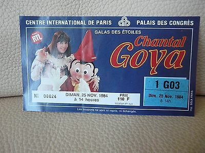 Billet de Spectacle Chantal Goya 1984 Paris