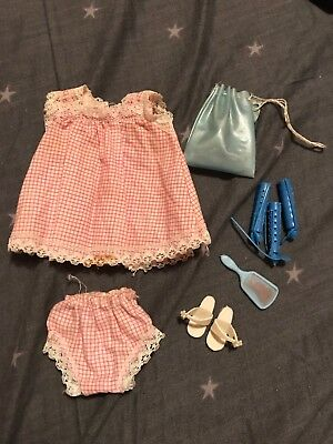 Sindy Doll Vintage 1965 Sleepytime Outfit Knickers Rollers Washbag Shoes Nightie