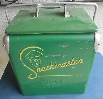 1950's Snackmaster Cooler w/ Embrossed Advertising