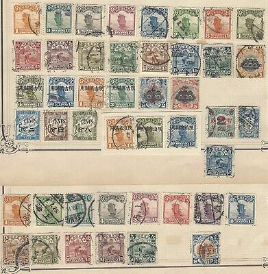 CHINA collection of early stamps on old album page w/ values to $5