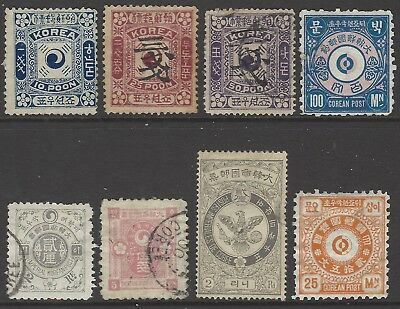KOREA collection of early classic stamps incl surcharges
