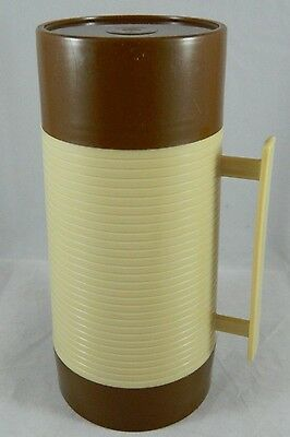 Vintage W.T. Grant's 10oz Grant Maid Wide Mouth thermos Bottle Brown/Tan Aladdin