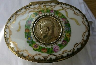 Royal Copenhagen porcelain box made for Russia