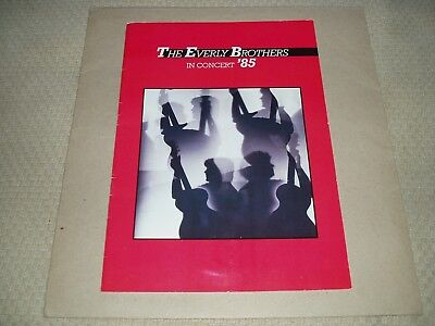 THE EVERLY BROTHERS In Concert 1985 tour programme