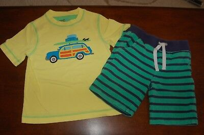 GUC Boys Adventure Wear 2pc Surf Car Applique' Top & Pull On Shorts Outfit Sz 5