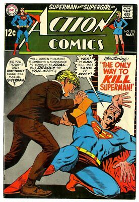 Action Comics #376 FN 6.0 ow/white pages  Superman  DC  1969  No Reserve