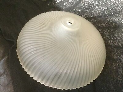 Vintage Frosted Spiral Pattern Ceiling Light Shade Globe Glass Flush Mount