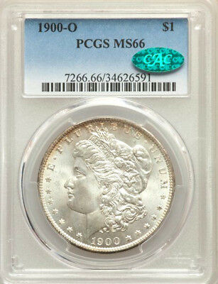 1900-O * PCGS MS66 * CAC * Silver MORGAN Dollar $1 * $400++++ WHITE Obv GOLD Rev