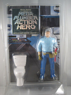Mega Plumber Action Hero Toy Figure by American Standard Toilet Novelty RARE