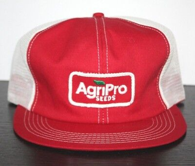 Vintage AgriPro Seeds Hat Patch cap ag farmer red Trucker K Products Mesh