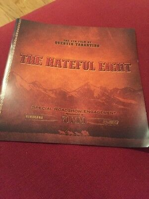 The Hateful Eight Quentin Tarantino roadshow 70mm souvenir uk program rare