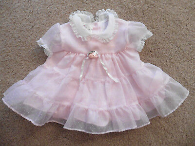 Excellent Pink Vintage Girls Dress Size Small/9M
