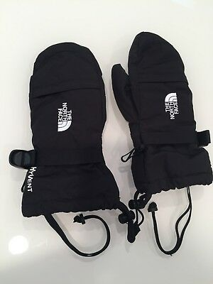 North Face Boys Black Mittens Goretex Insulated Size L