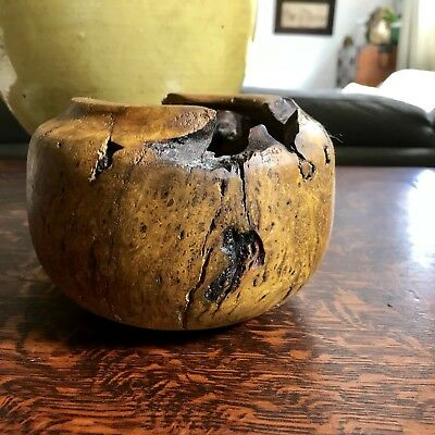 Vintage Root Burl carved Bowl-Artist M Williams.