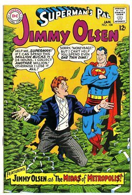 Jimmy Olsen #108 VF+ 8.5 white pages  Superman  DC  1968  No Reserve