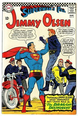 Jimmy Olsen #91 NM 9.4 ow/white pages  Superman  DC  1966  No Reserve