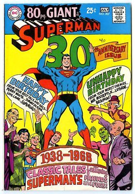 Superman #207 FN/VF 7.0 white pages  80 Page Giant  DC  1968  No Reserve