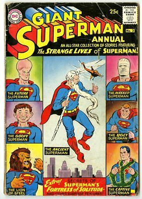 Superman Annual #3 G 2.0 off-white pages  80 Page Giant  DC  1961  No Reserve