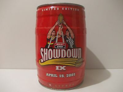Can/keg West End-Crows/Port Power Showdown 2001-empty-can collectors-man cave