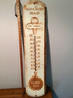 Vintage Craine Silo Thermometer Norwich NY works like it should.