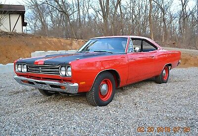 1969 Plymouth Road Runner RM23 ROADRUNNER 383 FACTORY 4SPD AIR GRABBER 1969 ROADRUNNER RM23 383 4SPD AIR GRABBER FULL RESTORATION PERFORMANCE RED