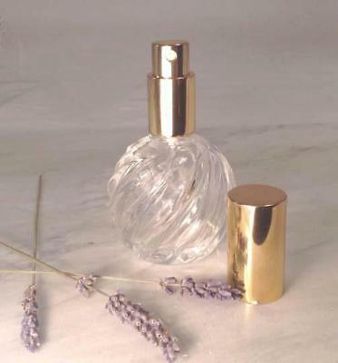 Swirl Refillable Crystal PERFUME Replacement Bottle Glass Atomizer Sprayer 30 ml