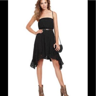 Guess New Womens Black Lace Strapless Dress 2299 Picclick