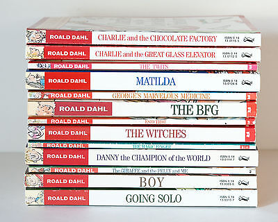 Lot of 13 ROALD DAHL Matched Set of Books - Charlie Matilda Witches BFG Twits