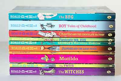 Lot of 10 ROALD DAHL Matched Set of Books - Charlie Matilda Witches BFG Mr. Fox