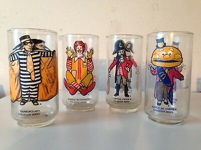 McDonalds (4) 1977 Glasses Plus Road Runner/Wile E. 1974 Welch Jelly Glass