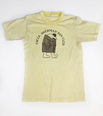 VTG UNCLE SHERMAN Mr Flashmore 70s T-Shirt Trenchcoat Flasher RARE Made In USA