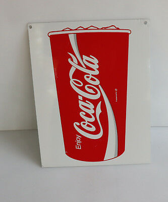 1980s Ribbon COCA COLA CUP Sign With Ice  Dispenser