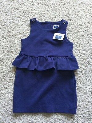 NEW Girl's 12-18 Month Janie and Jack Dress Blue Infant Baby Toddler NWT