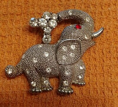 Designer DOLPHIN ORE  ELEPHANT pin brooch  covered with Swarovski crystals