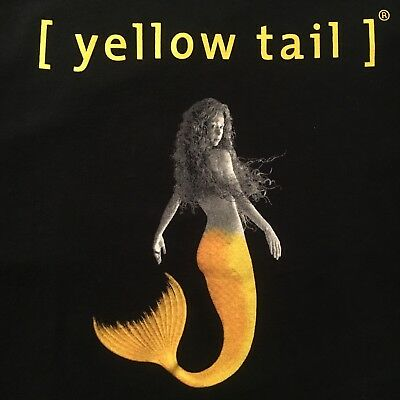 fun YELLOW TAIL wine promo t shirt - SEXY MERMAID tails, you win - NEW - (2XL)